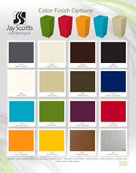 jay scotts 16 standard color swatches