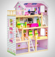 wooden barbie doll house furniture. Barbie Size Playhouse Furniture Girls Dollhouse Children Play Wooden Doll House B