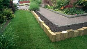garden design using sleepers. garden sleepers rochdale design using
