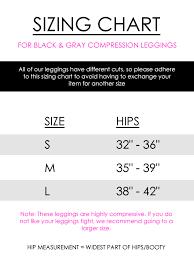 Cmp Size Chart Diva Mode Compression Leggings Gray