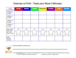 Day By Day Exercise Chart Daily Physical Activity For Kids 60 Minutes Of Activity