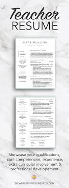 17 best ideas about teacher resume template resume teacher resume template for word pages 1 2 and 3 page cv template resume for teachers educator cover letter instant