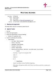 Meeting Agenda Template Word Format Of Resignation Letter Board ...