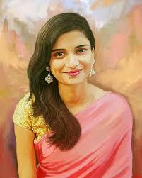 Digital Portrait Painting Digital Portrait Paintings Artvishwa