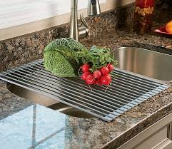 over the sink roll up drying rack colander