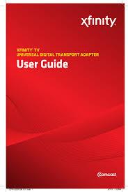 Xfinity Blinking Orange Light Hdudta Universal Digital Transport Adapter User Manual
