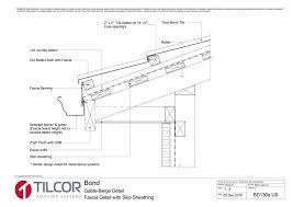 fascia detail skip sheathing bd130a