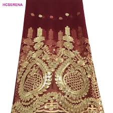 <b>2019 Latest French Nigerian</b> Laces Fabrics High Quality Sequins ...