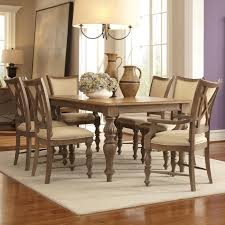windhaven 7 piece legged dining table upholstered chair set by riverside furniture at wayside furniture