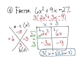 lesson 10 6 factoring ax 2 bx c day 1 math algebra factoring trinomials quadratic equations showme