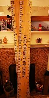 Hand Made Personalised Wooden Childrens Height Chart Ruler