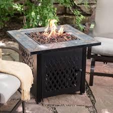 fire pit table outdoor fireplace lp propane gas patio heater backyard