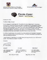 Letter Of Recommendation For Medical Doctor Letters Of Recommendation Dr Tony Willcox D O M A P 561 274