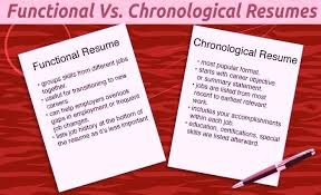 chronological vs functional resume chronological resume vs functional resume  similarities between chronological and functional resume