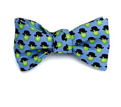 Light Up Bow Tie Party City Josh Bach Mens Apples Hats Art Inspired Self Tie Silk Bow Tie Blue Made In Usa