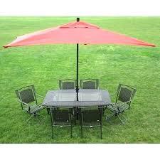 outdoor umbrella tablecloth round rectangular table premium patio
