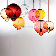 hand blown glass lighting fixtures. modern brief colorful hand blown plated glass pendant light with salient bubble shape led simple hanging lighting fixtures
