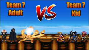 Team 7 (Adult) VS Team 7 (Kid) - Bleach Vs Naruto 3.3 (Modded ...