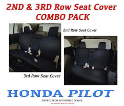 genuine oem honda pilot 2nd 3rd row seat covers for ex l touring 2016 2019