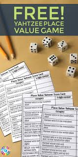 Score Some Points With Place Value Yahtzee Scores Learning And
