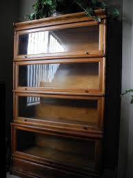 oak antique lawyer glass front bookcase