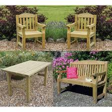elda heavy duty solid wood garden set