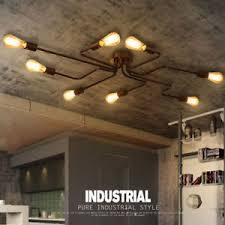 industrial loft lighting. Image Is Loading Industrial-Loft-Black-Metal-Creative-Semi-Flush-Mount- Industrial Loft Lighting O