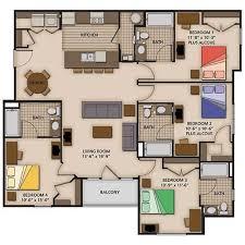 Exquisite Charming 4 Bedroom Apartments 2 3 And 4 Bedroom Apartment Floor  Plans Capstone Quarters