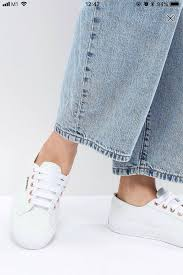 superga 2750 white leather rose gold with satin ribbons women s fashion shoes sneakers on carou
