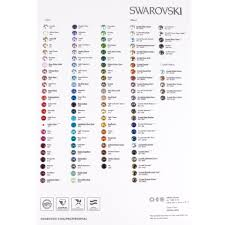 Cathedral Stone Color Chart Swarovski Color Chart Xirius 1088 Round Stone Color Chart