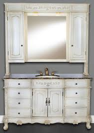 Modero Chilled Gray 60-Inch Single Vanity Combo with White Carrera Marble  Top
