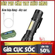 ĐÁNH GIÁ] [RẺ VẢI CHƯỞNG] Đèn pin siêu sáng mini bin sạc điện usb bóng led  xpe cob có zoom chống nước cầm tay chuyên dụng, Giá rẻ 59,000đ! Xem đánh  giá! -