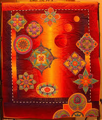 Moroccan Moonfire by Tami Graeber…Best of Show 2015 Tucson Quilt ... & Best of Show 2015 Tucson Quilt Fiesta Adamdwight.com