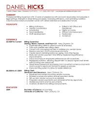 Legal Billing Clerk resume example
