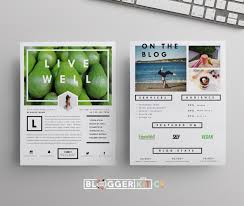 Live Well Media Kit Template Diy Media Kit Templates Blogging