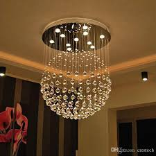 new modern led k9 ball crystal chandeliers foyer chandelier