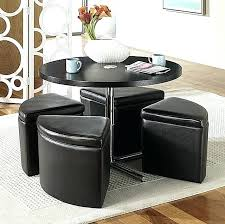 round coffee table with storage ottomans simpli home avalon coffee table storage ottoman with 4 serving
