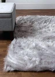 gray faux fur rug high quality silky carpet dark grey sheepskin ikea