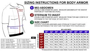 Copsplus Body Armor Sizing Instructions