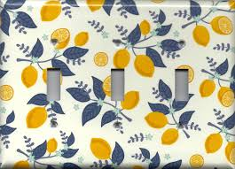 kitchen light switch covers kitchen. Lemons With Navy Leaves Kitchen Decor Light Switch Plates And Wall Outlet Covers Farmhouse