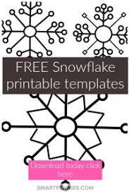 Free Snowflake Printable Templates Make Them Large Or Small