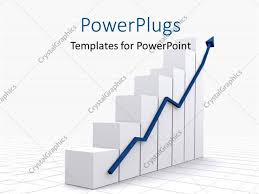 Powerpoint Template A Growth Chart With A Growth Arrow And