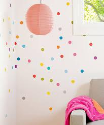 Polka Dot Bedroom Interior Wall Dressing Design Impressive Polka Dots Motives For