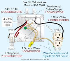 the box has the equivalent of eleven 14 awg conductors