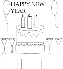 Free Printable Happy New Years Coloring