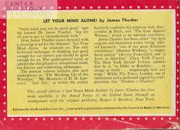 book of the month let your mind alone cummings center blog let your mind alone back cover