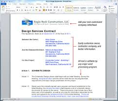Sample Construction Contract Uda Constructiondocs Architectural Construction Contract Templates