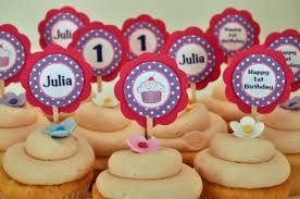 Birthday Cupcake Ideas Custom Cupcake Toppers Cupcake Ideas For You
