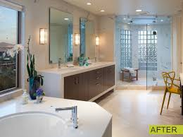 glass block bathroom windows. Stunning Before And After Bathroom Remodeling Ideas For Your Inspiration : Cool Glass Block Windows