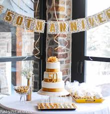 image of 50th wedding anniversary party ideas with banner